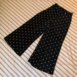 Zara Crimped Polka Dot Pants